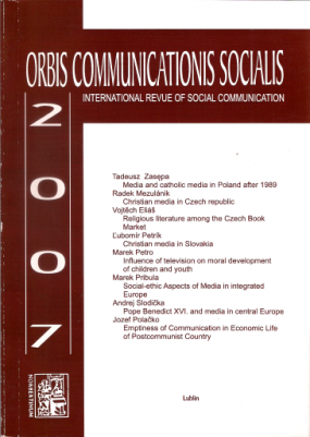 Orbis Communications Socialis 2007. International Theological Revue of Social Communication